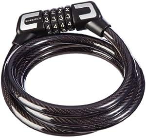 Trelock 0578 Câble spirale antivol avec verrou à code S 2 Noir