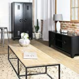 Armoire industrielle métal noir style casier | GL05