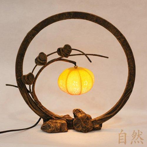 Lampe Table Asie Romantique Design Art Nouveau Couleur Naturelle Ambiance Zen