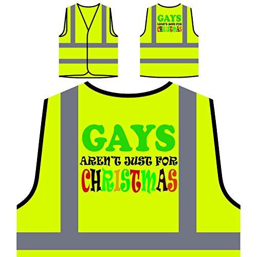 Preisvergleich Produktbild Homosexuelle sind nicht nur für Weihnachten lustig Personalisierte High Visibility Gelbe Sicherheitsjacke Weste t56v