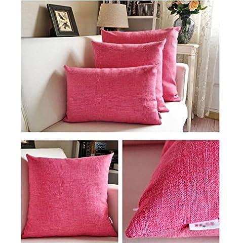 Épaisseur d'épaisses Tissu de lin Canapé Bureau Coussin de chevet Dossier de voiture , rose red , 30*50cm
