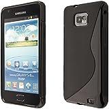 ECENCE Samsung Galaxy S2 i9100 S2 Plus i9105 Coque de protection housse case cover noir 13040401
