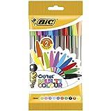 Bic Cristal Multicolor Pack de 10 Stylos-Bille pointe large MultiCouleur