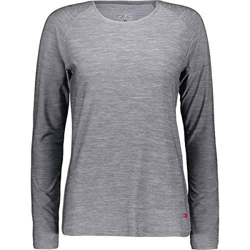 CMP Damen Melange Stretch Longsleeve Langarmshirt Sweatshirt Damen Stretch Fleece Pullover