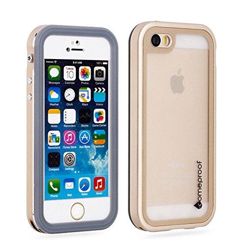 iPhone SE 5SE 5 5S Waserdicht Hülle [Happon] Ultra Slim [IP68 Zertifiziert Wasserdicht] Stoßfest Stubdichtes Snowproof Handyhülle Kratzfestes Gehäuse Outdoor Handy Schutzhülle Unterwasser Cover Tasche Case für iPhone SE 5SE 5 5S (Golden)