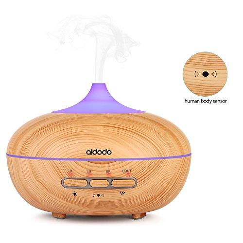 Aroma Diffuser, Aidodo 300ml mini Diffuser Luftbefeuchter Ultraschall Aromatherapie Ätherischesöl Oil Diffusor mit 7 Veränderbaren Farbigen LED Lichter Verstellbarer Nebel Modus