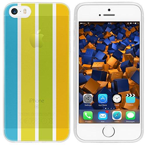 mumbi TPU Silikon Schutzhülle für iPhone SE 5S 5 Hülle in schwarz Sommer gelb