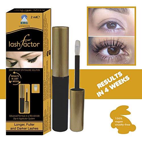 Lashfactor - crescita siero per allungante e volumizzante ciglia, eyelashes growth serum, siero ciglia, serum per allungante ciglia professionale