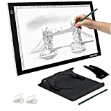Table Lumineuse A3, Yaufey LED Lumineuse Reglable Light Pad Tablette Lumineuse Dessin en Panneaux Acryliques (DC Adaptateur)