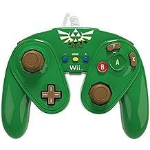 PDP - Mando Fight Pad Con Cable, Diseño Link (Nintendo Wii U)