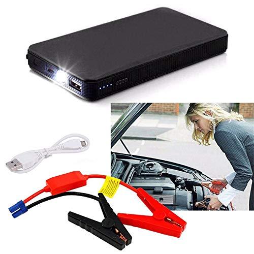 Ankkiro Auto Starthilfe,Power Pack Jump Starter 12V 300A Autobatterie Boost tragbare Power Bank USB Ladeanschluss & LED Taschenlampe (schwarz)