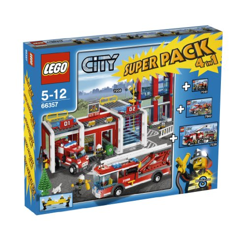 LEGO-City-66357-Fire-Station-Super-Pack-4-in-1
