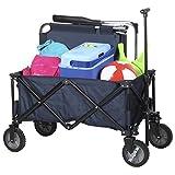Campart Travel HC-0910 klappbarer Strandwagen/ Bollerwagen - 70 Kilogramm Belastbarkeit - Blau mit Tasche