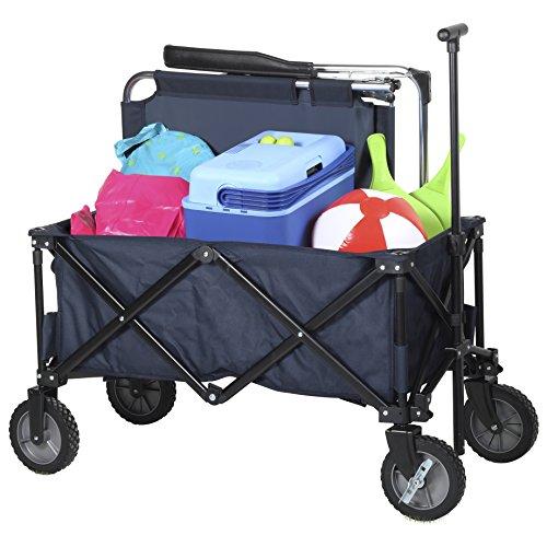 Chariot pliable Campart HC-0910 - Capacité de 70 kg - Bleu