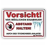 VORSICHT EISABWURF - Winterdienstschilder / WI-012 (30x20cm Schild)