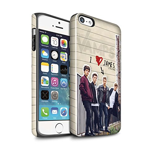 Offiziell The Vamps Hülle / Glanz Harten Stoßfest Case für Apple iPhone 5/5S / Pack 5pcs Muster / The Vamps Geheimes Tagebuch Kollektion James