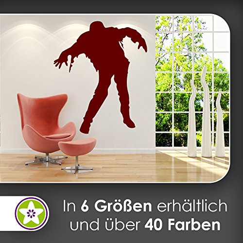 KIWISTAR Zombie - Tot Apokalypse Virus Wandtattoo in 6 Größen - Wandaufkleber Wall Sticker