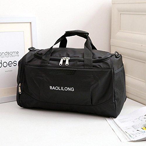 LaDicha Wasserdichte Sport Duffels Reisetasche Training Gym Fitness Taschen Multifunktions-Schultertasche - Schwarz (Schwarzes Papier-malbuch)