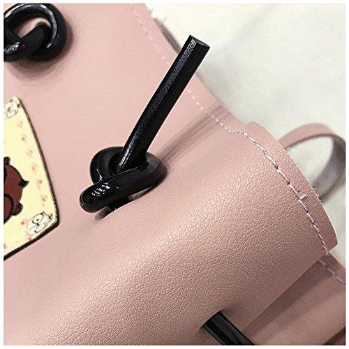 2 sacchetti impostati, Longra Donna Sacchetto singolo della traversa del telefono delle cellule oblique della spalla Rosa