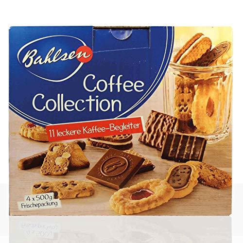Bahlsen Coffee Collection, 11 Variationen feinen Gebäcks, 4 x 500 g Frischepackung - 2000gr - 4x