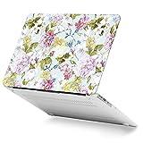 GMYLE MacBook Air 13 Hülle - Hochwertige Matt Gummierte Hartschale Tasche Schutzhülle Snap Case für Apple MacBook Air 13.3 Zoll (A1466 / A1369) , blasses Blumenmuster