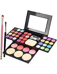 MagiDeal Coffret de Maquillage avec 24x Poudre pour Fard à Paupières 8x Lip Gloss 4x Fard à joues 3x Fondation...