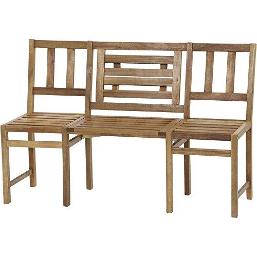 Siena Garden 2er Bank Avignon, 131x47,5x85cm, Gestell: Akazienholz, geölt in natur, FSC 100%
