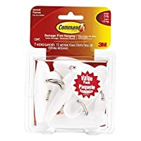 Command Wire Hooks Value Pack, Medium, White, 7-Hooks (17068-7ES) by Command