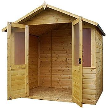 7 x 5 Shiplap Bournemouth Apex Wooden Summerhouse - Double Doors \u0026 Felt Included - By  sc 1 st  Amazon UK & 7 x 5 Shiplap Bournemouth Apex Wooden Summerhouse - Double Doors ...