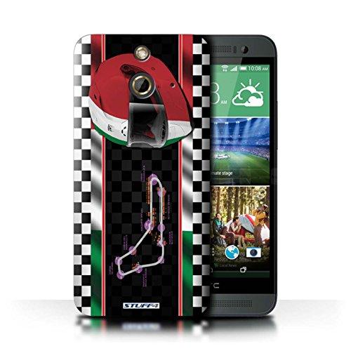 Kobalt® Imprimé Etui / Coque pour HTC One/1 E8 / Italie/Monza conception / Série F1 Piste Drapeau Italie/Monza