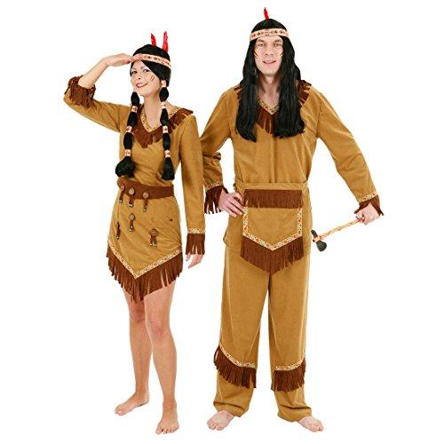 NET TOYS Arapaho Indianer Kostüm Herren Indianerkostüm Männer Häuptling Herrenkostüm Wild West Wilder - Indianer Kostüm Mann