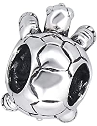 So Chic Joyas - Abalorio Charm tortuga animal de mar - Compatible con Pandora, Trollbeads, Chamilia, Biagi - Plata 925