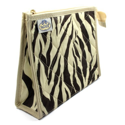 cosmetic-bag-full-polyester-lining-two-interior-side-pockets-brown-cream-zebra-print-khaki-trim-cott