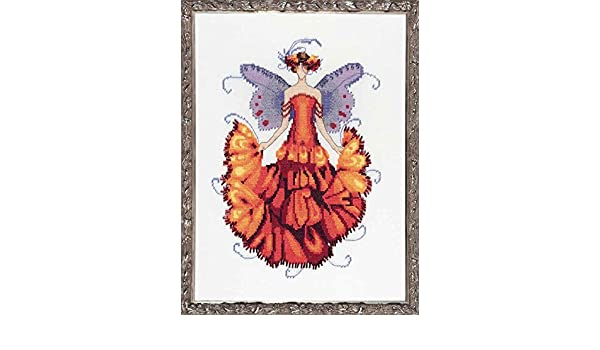 "COMPLETE XSTITCH MATERIALS /""MARIGOLD /"" NC200/"" Pixie Blossoms Col by Nora Corbett"
