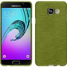Funda de silicona para Samsung Galaxy A3 (2016) A310 - brushed verde pastel - Cover PhoneNatic Cubierta + protector de pantalla