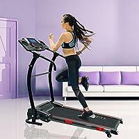 Preisvergleich für AsVIVA Laufband T17 Cardio Runner Heimtrainer - 12 km/h Geschwindigkeit, elektronischer 2,5 PS HighTech Motor – Fitnesscomputer mit 20 Trainingsprogrammen 110kg Nutzergewicht - kompakt klappbar