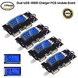 MakerHawk 4 stücke 18650 Ladegerät Bord Dual USB 5 V 1A 2.1A 18650 Batterie Lade PCB Modul Board mit Schutz DIY USB Board