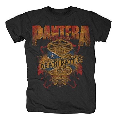Pantera - Death Rattle - Camiseta Oficial Hombre - Negro, Large
