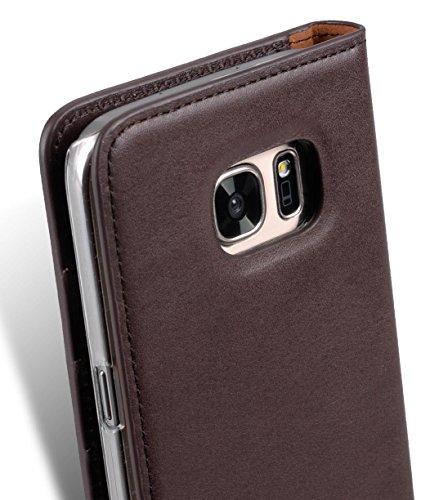 Apple Iphone 7 Plus Melkco Premium Cowhide Leather Herman Series Book Style Case mit Premium Leder Handcrafted Guter Schutz, Premium-Gefühl-Schwarz Italian Black/Italian Coffee 1