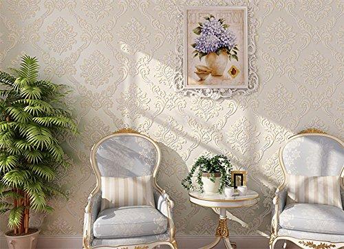 MEILI Selbstklebende Vliestapete 3D geprägte Wohnzimmer Schlafzimmer TV Hintergrund Wand kommt mit Kleber Tapete, 2