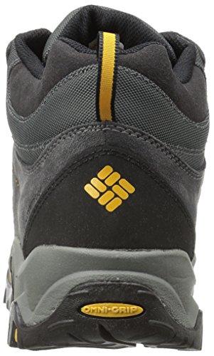 Columbia Men's Granite Ridge Mid Waterproof Wide Hiking Shoe Dark Grey, Golden Yellow
