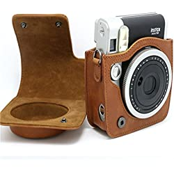 USUN Retro cámara de hombro bolsa de funda de piel sintética para Fujifilm Instax Mini 90Neo