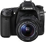 Canon EOS 80D 1263C034 SLR-Digitalkamera (24,2 Megapixel, 7,7 cm (3 Zoll) Display, DIGIC 6 Bildprozessor, NFC und WLAN, Full HD, Kit inkl. EF-S 18-55mm 1:3,5-5,6 IS STM) schwarz - 4