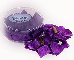 Rose Petals silk wedding table confetti Purple