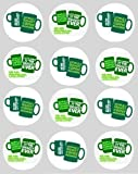 12 Macmillan support charity design rice paper fairy / cup cake 40mm toppers pre cut decoration