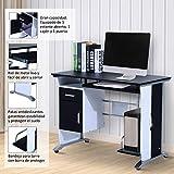 Mesa de Ordenador PC Despacho Escritorio 100x52x75cm Oficina Mobiliario Madera
