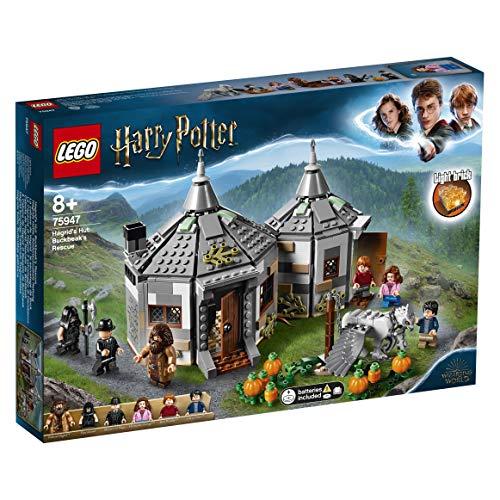 LEGO-La Cabane de Hagrid Le Sauvetage de Buck, Issu du Harry Potter et Le Prisonnier d'Azkaban, Jeu d'Assemblage 8 Ans et Plus, Jouet pour Fille et Garçon, 496 Pièces, 75947, Multicolore