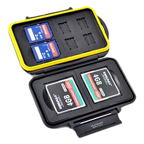 JJC MC-CF/SD/MSD8 robuste wasserdichte Memory Card Case (2 X CF / 2 x SD / 4 X MicroSD)