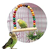 #2: Pets Empire Wooden Colorful Beads Bell Bird Swing Toys