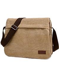 Retro Canvas Messenger Bag Shoulder Crossbody Bag Laptop Bag Satchel Bag for Men and Women
